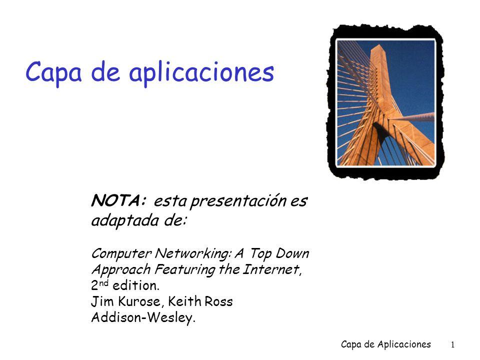 Capa de aplicaciones