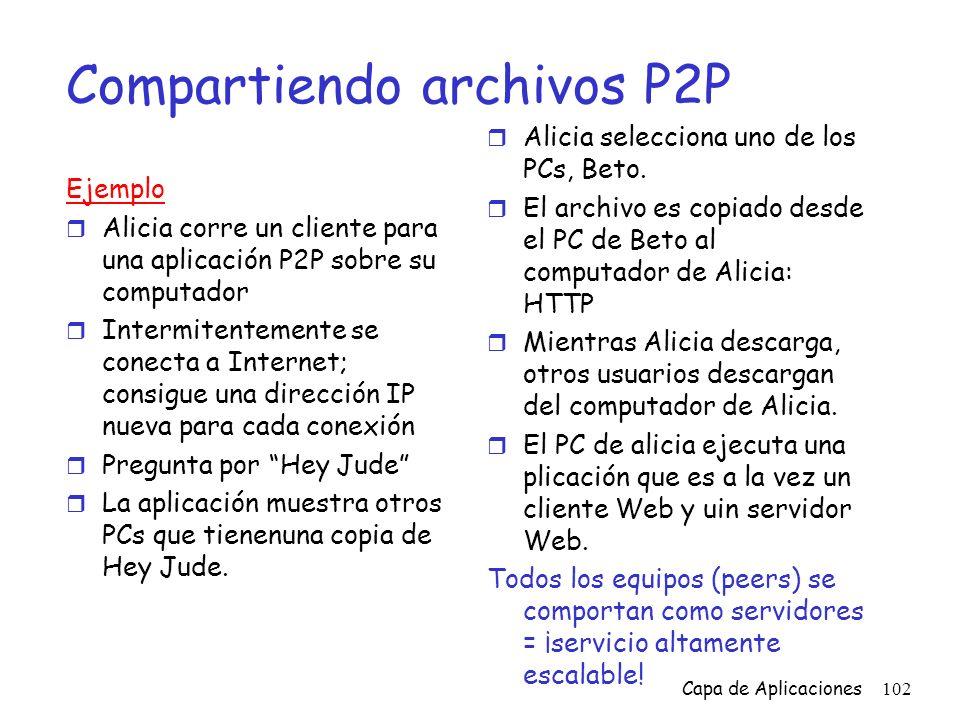 Compartiendo archivos P2P