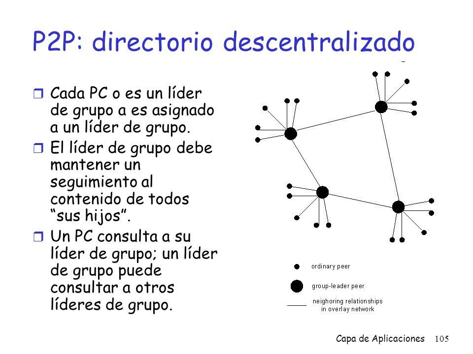 P2P: directorio descentralizado