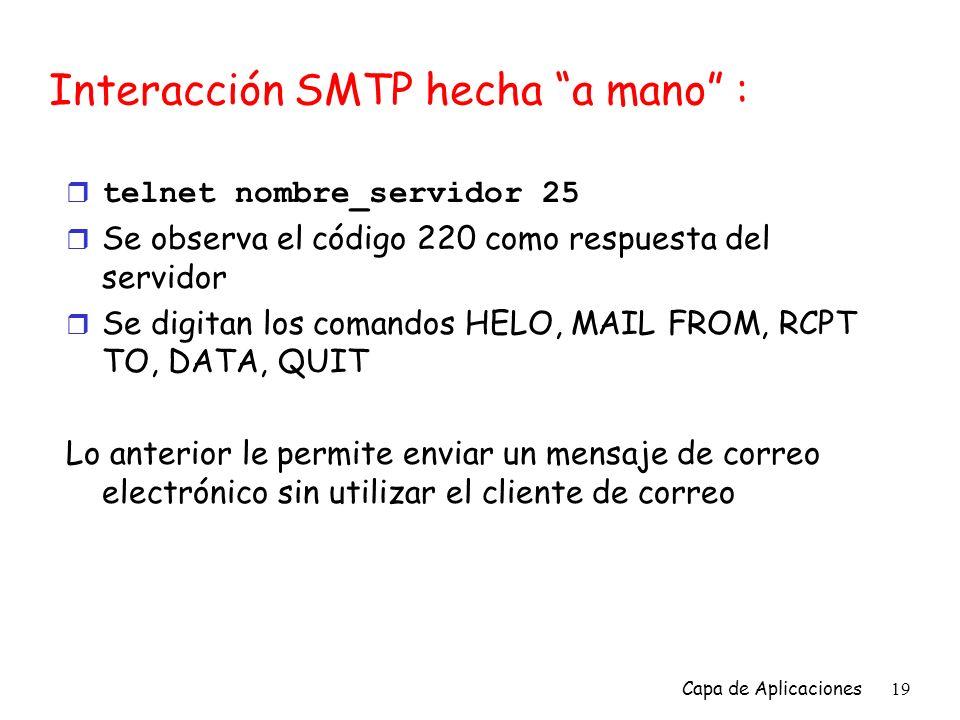 Interacción SMTP hecha a mano :