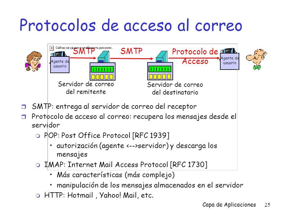Protocolos de acceso al correo