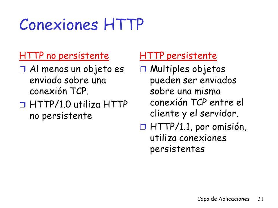Conexiones HTTP HTTP no persistente