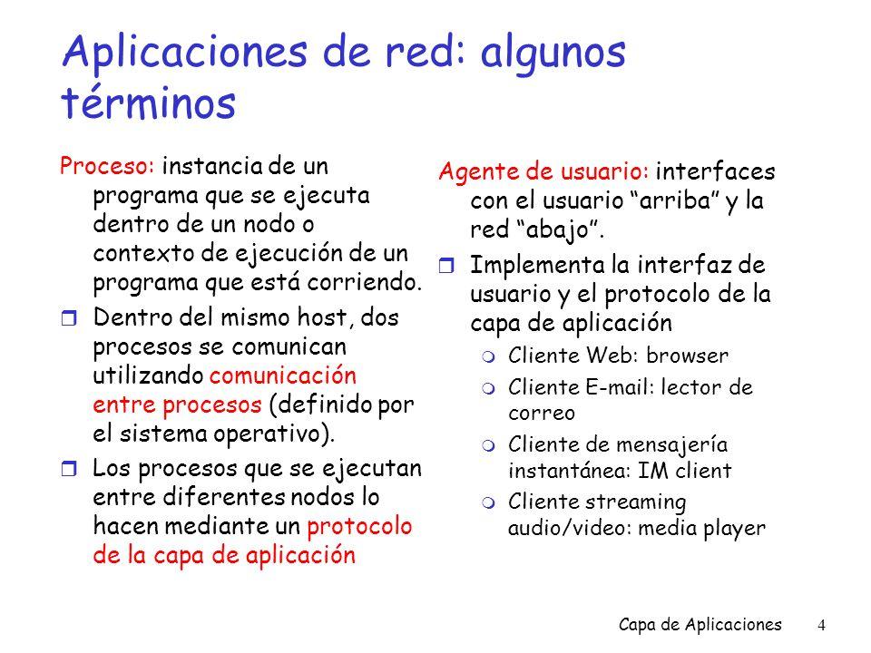 Aplicaciones de red: algunos términos