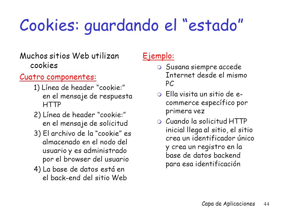 Cookies: guardando el estado