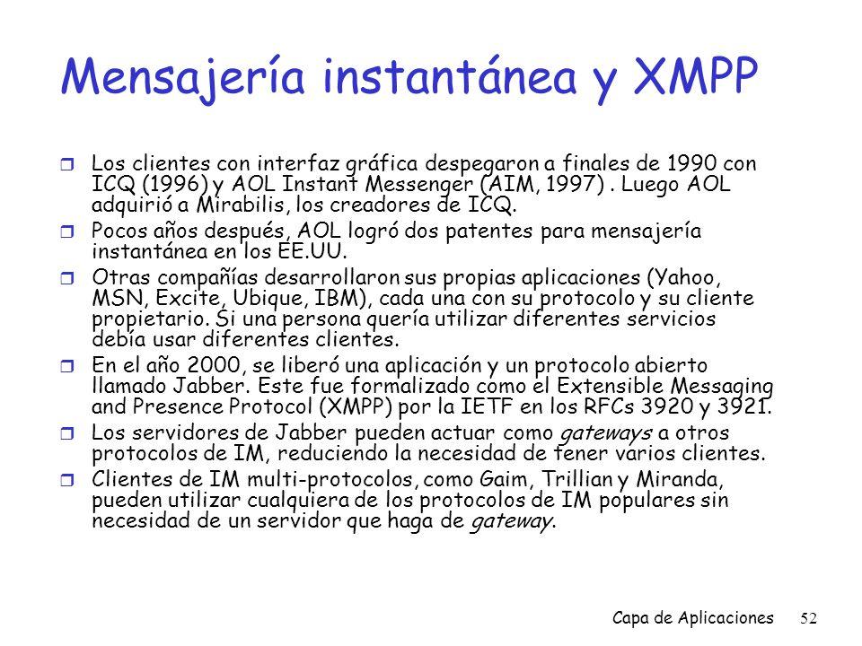 Mensajería instantánea y XMPP