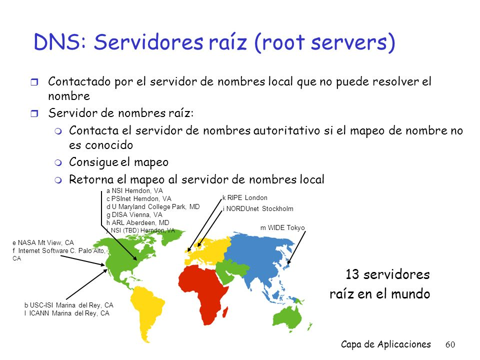 DNS: Servidores raíz (root servers)