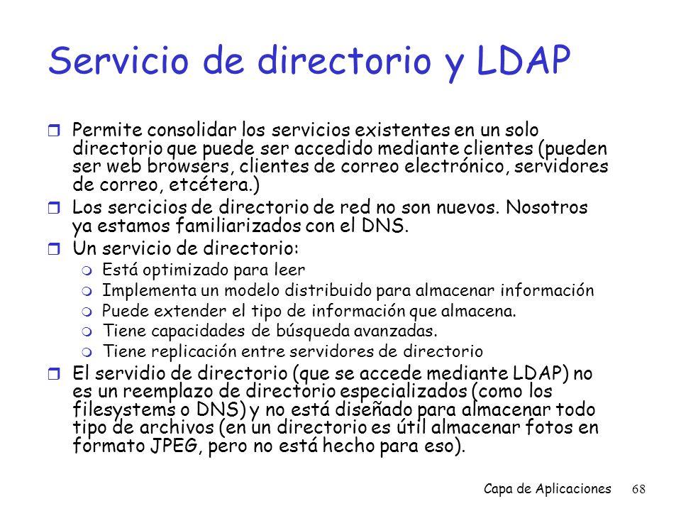 Servicio de directorio y LDAP