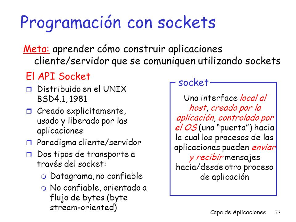 Programación con sockets
