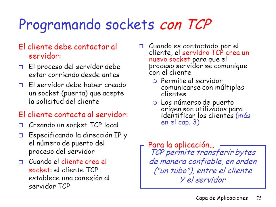 Programando sockets con TCP