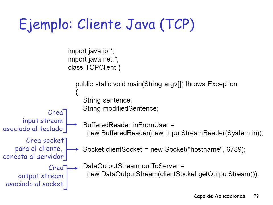 Ejemplo: Cliente Java (TCP)