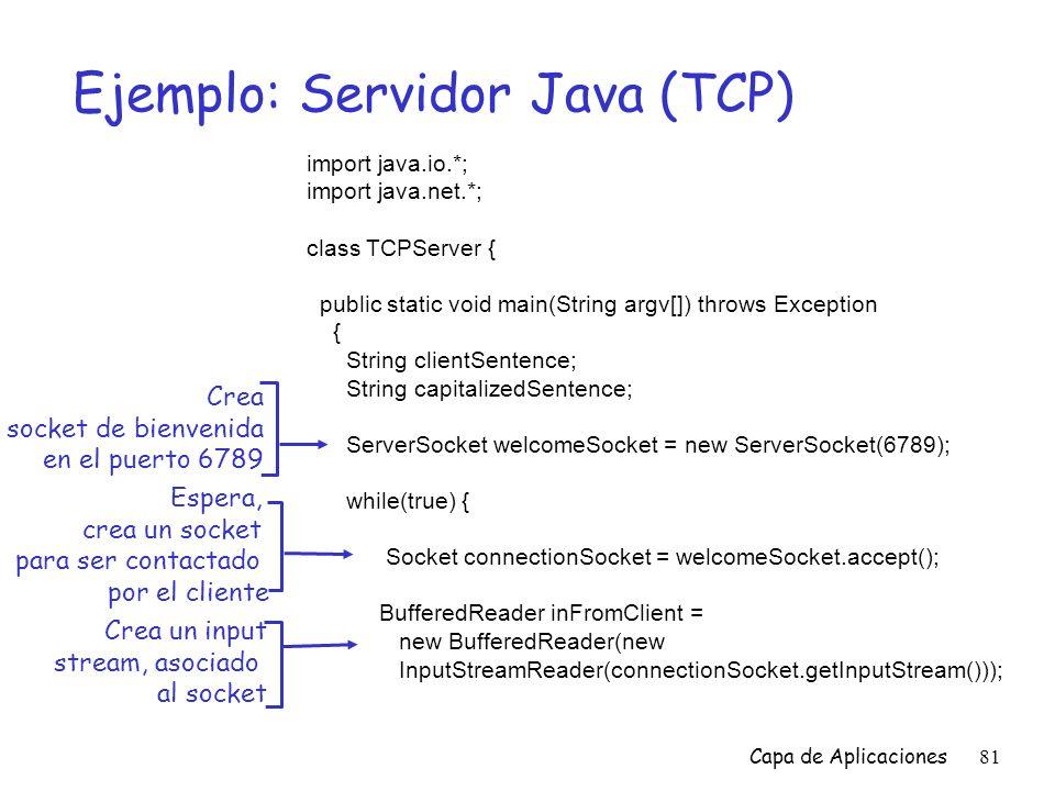 Ejemplo: Servidor Java (TCP)