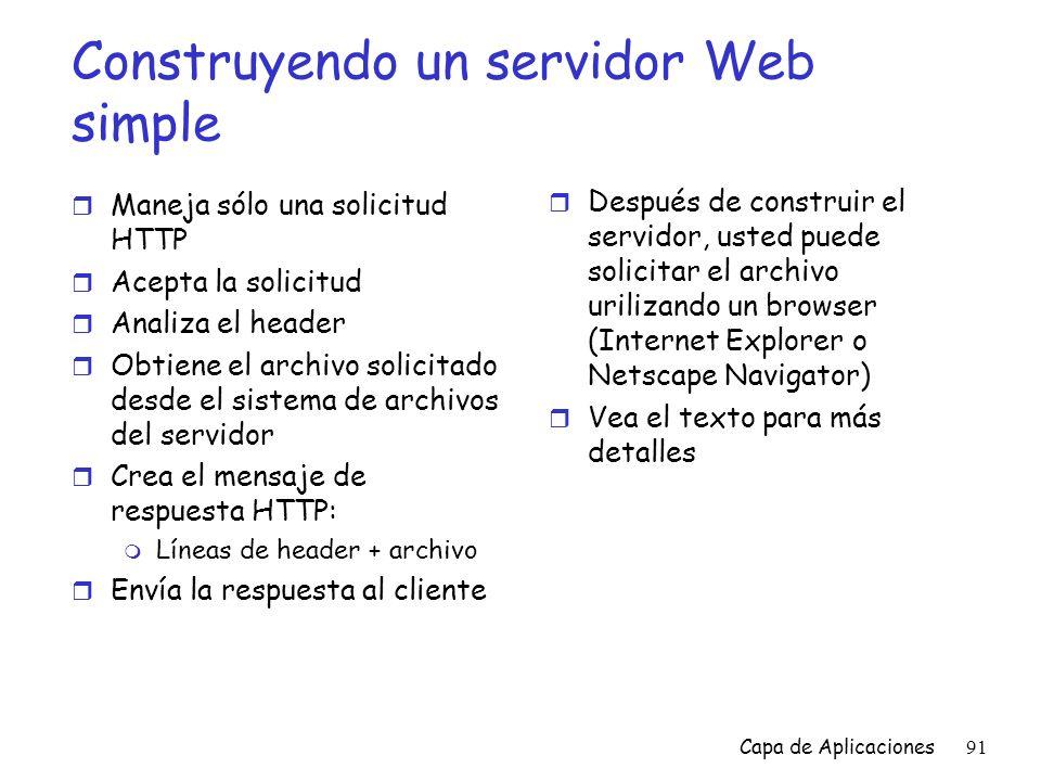 Construyendo un servidor Web simple