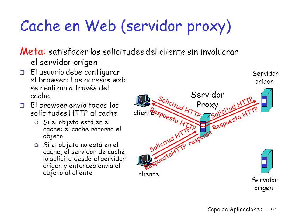 Cache en Web (servidor proxy)