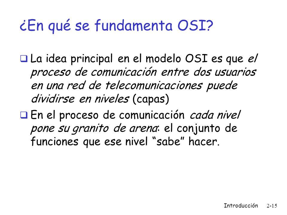 ¿En qué se fundamenta OSI