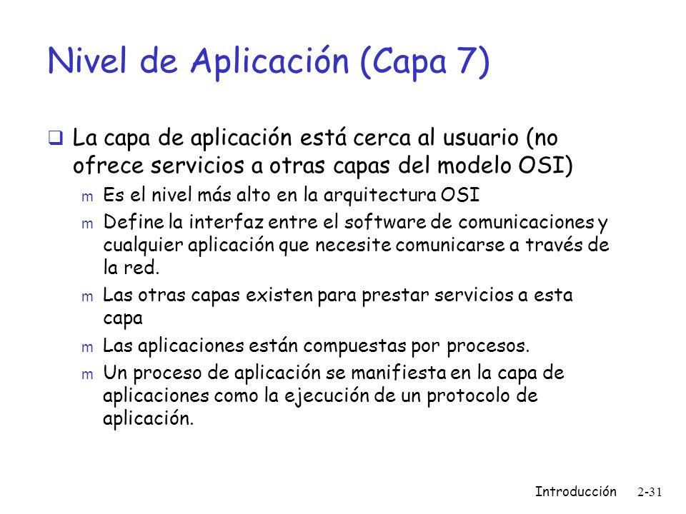 Nivel de Aplicación (Capa 7)