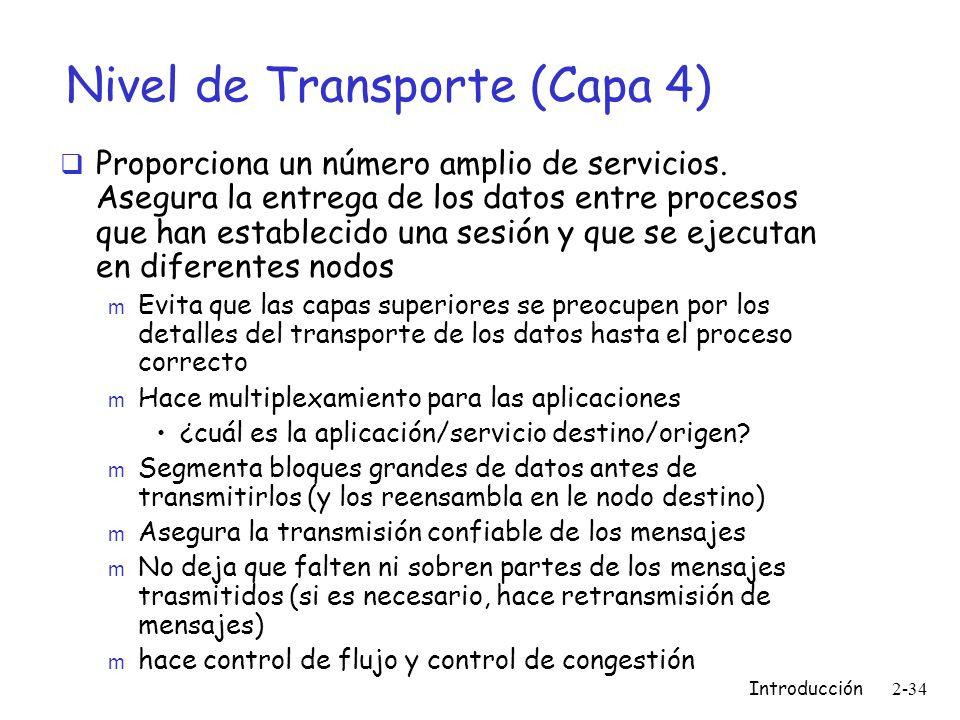 Nivel de Transporte (Capa 4)