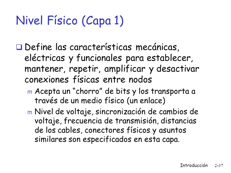 Nivel Físico (Capa 1)