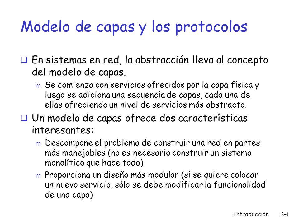 Modelo de capas y los protocolos