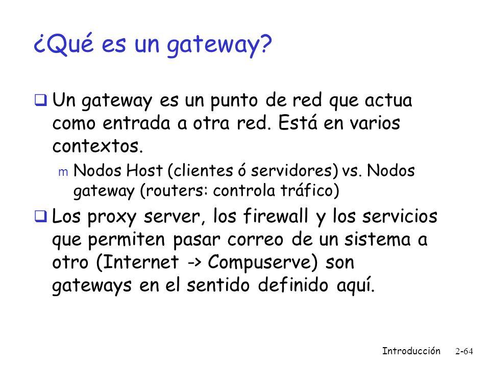 ¿Qué es un gateway Un gateway es un punto de red que actua como entrada a otra red. Está en varios contextos.