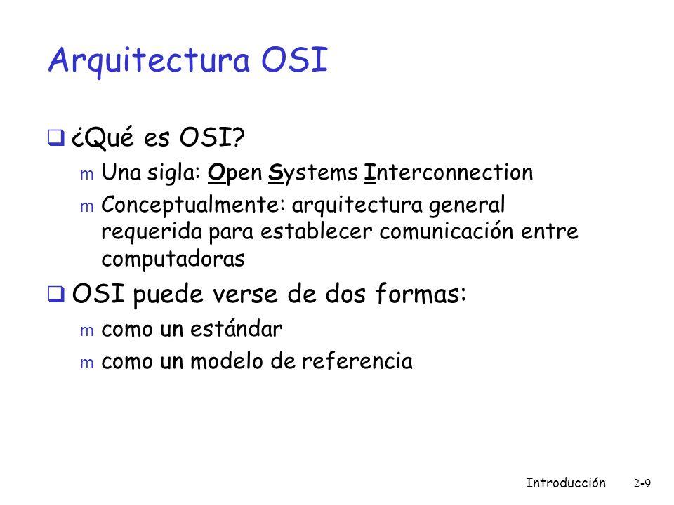 Arquitectura OSI ¿Qué es OSI OSI puede verse de dos formas:
