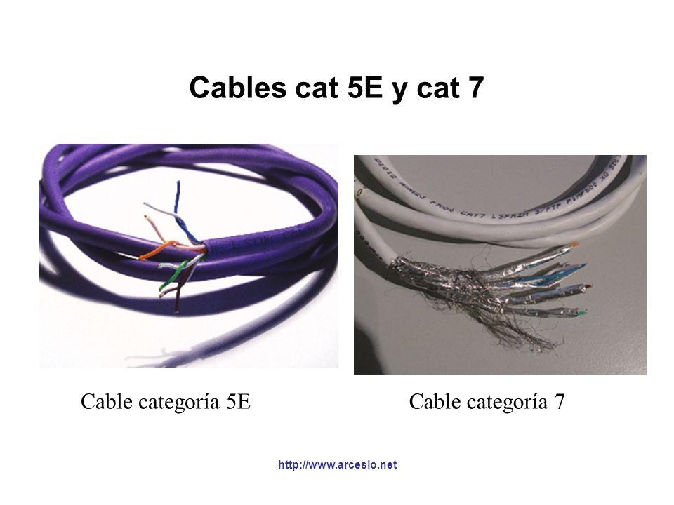 Cables cat 5E y cat 7 Cable categoría 5E Cable categoría 7