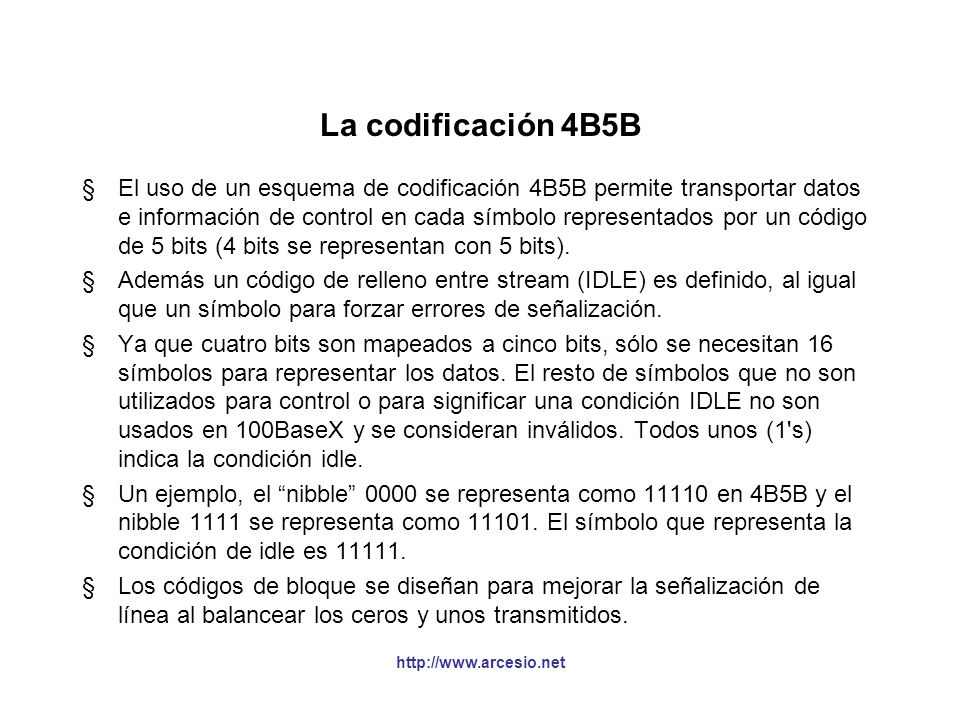 La codificación 4B5B