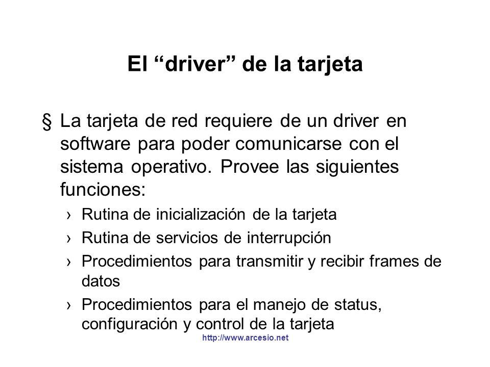 El driver de la tarjeta
