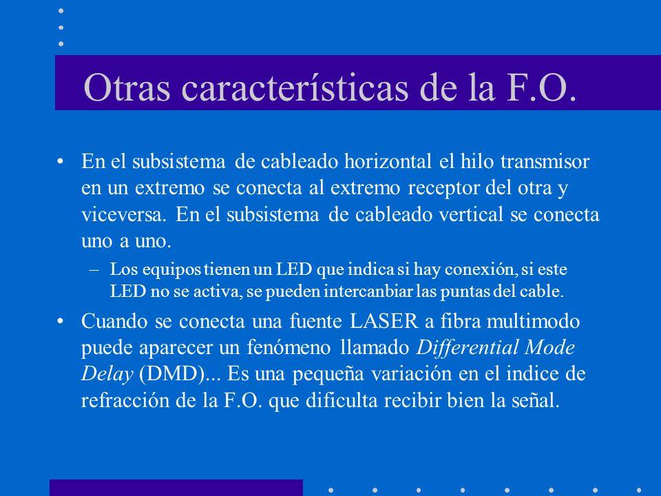 Otras características de la F.O.