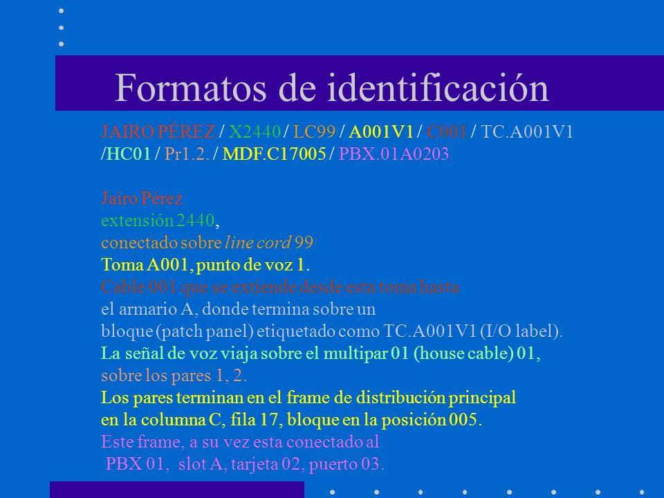 Formatos de identificación