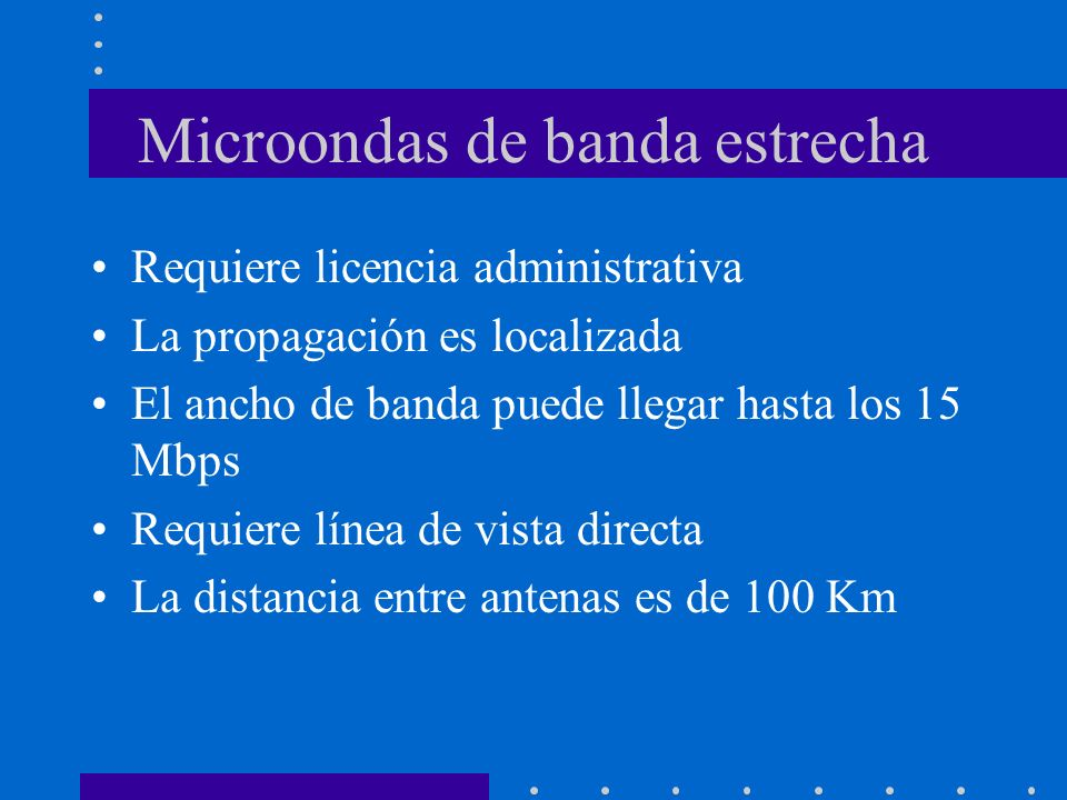 Microondas de banda estrecha
