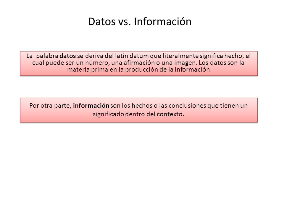 Datos vs. Información