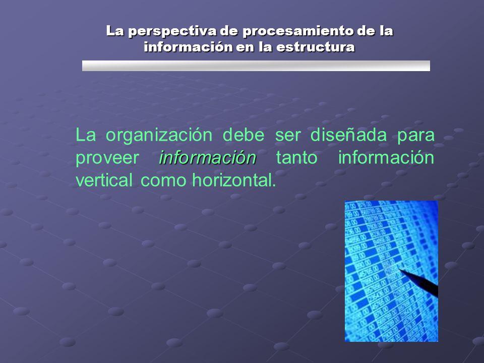 La perspectiva de procesamiento de la información en la estructura