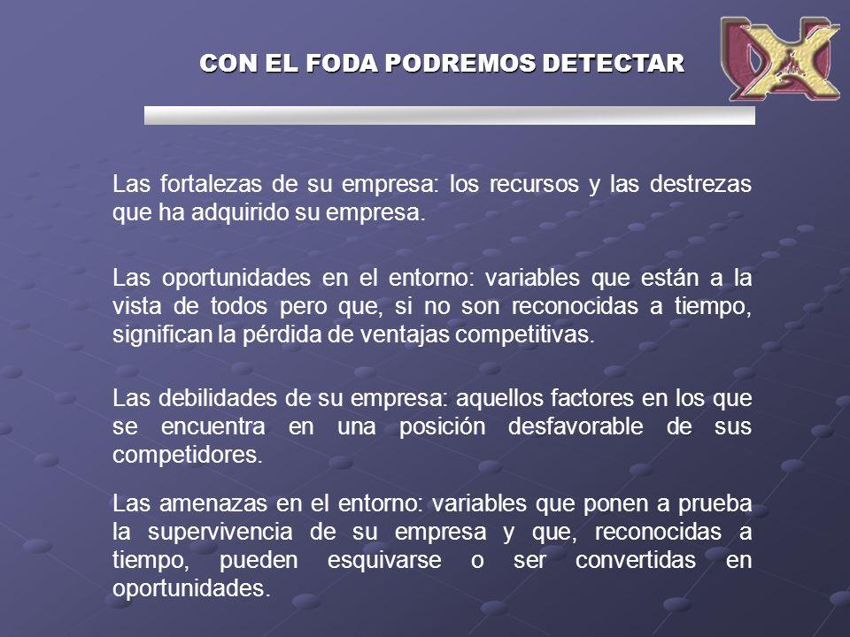 CON EL FODA PODREMOS DETECTAR