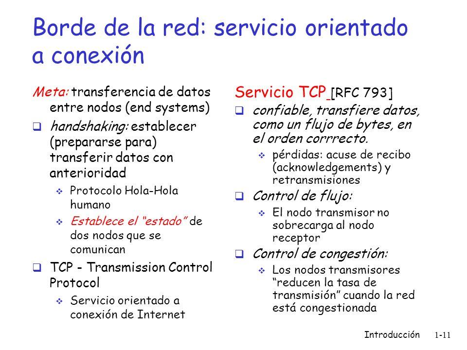 Borde de la red: servicio orientado a conexión
