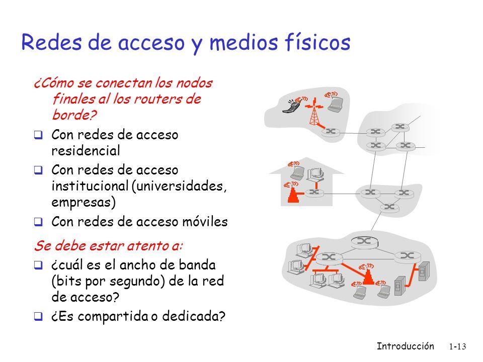 Redes de acceso y medios físicos