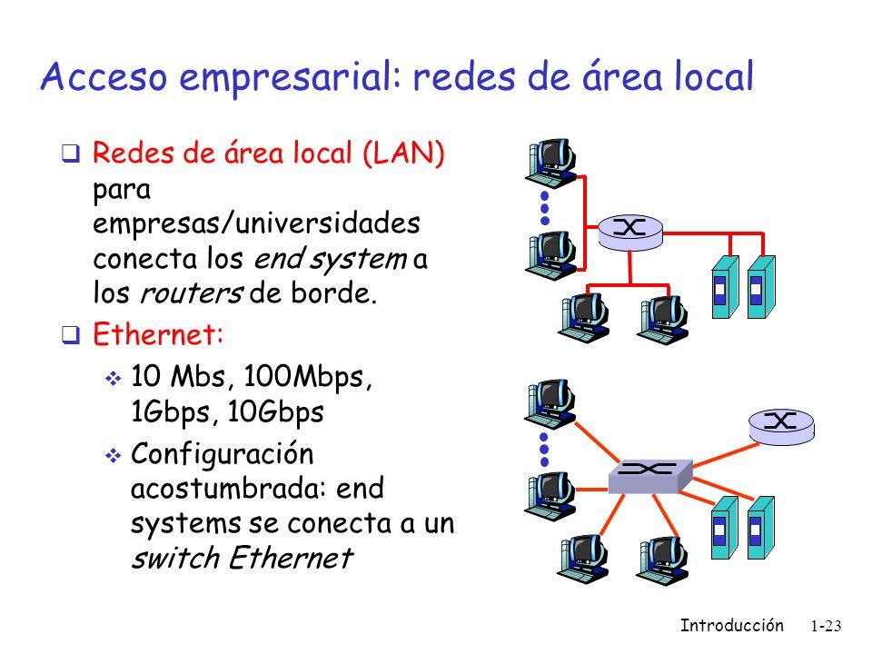 Acceso empresarial: redes de área local