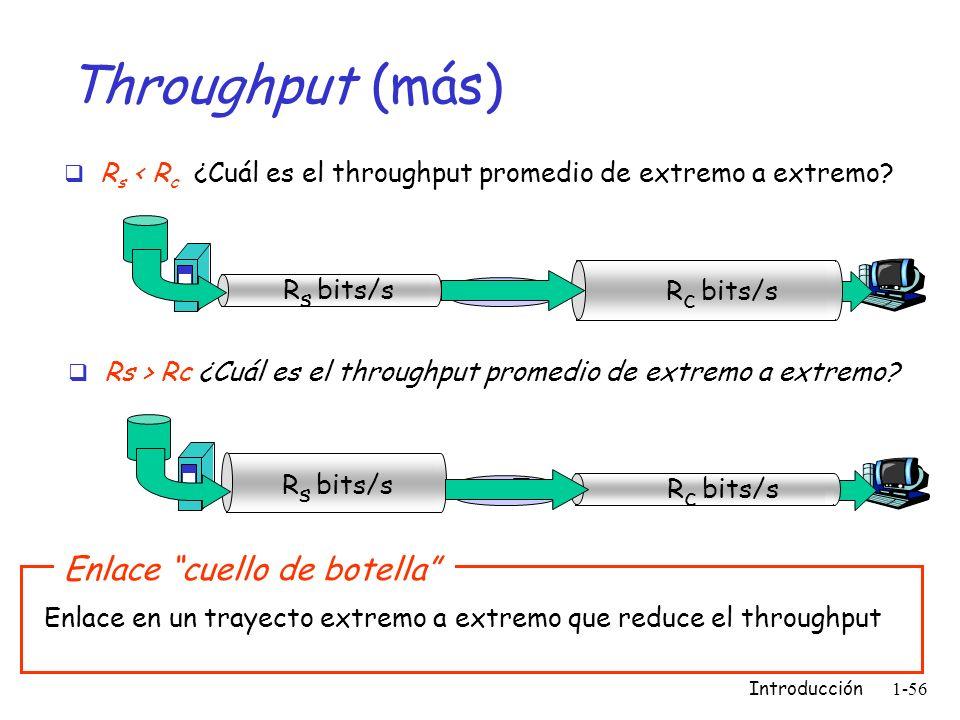 Throughput (más) Enlace cuello de botella
