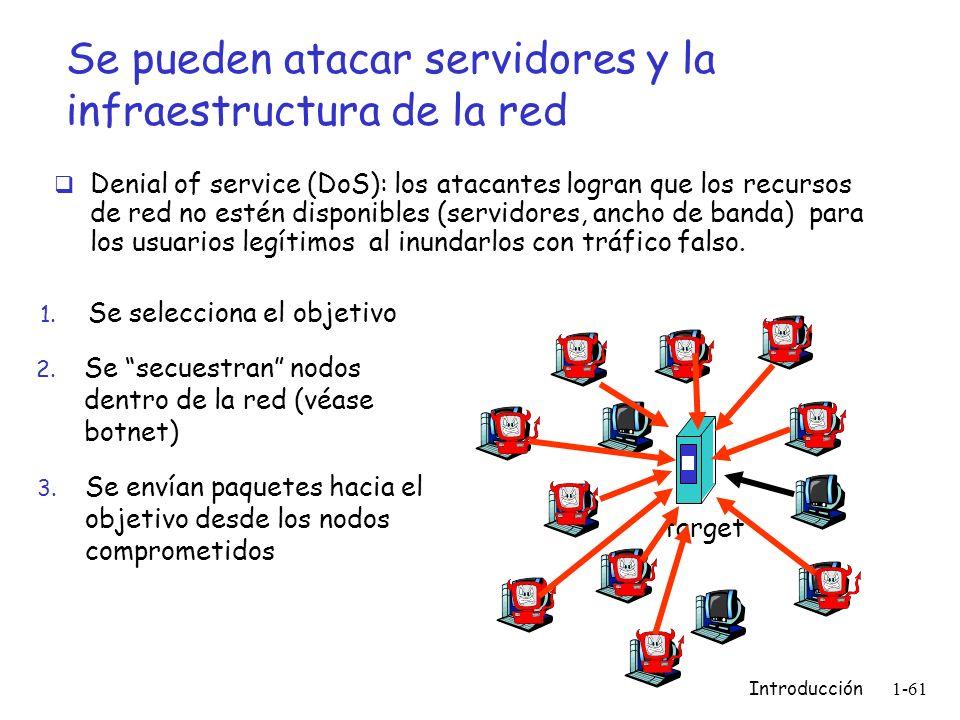 Se pueden atacar servidores y la infraestructura de la red