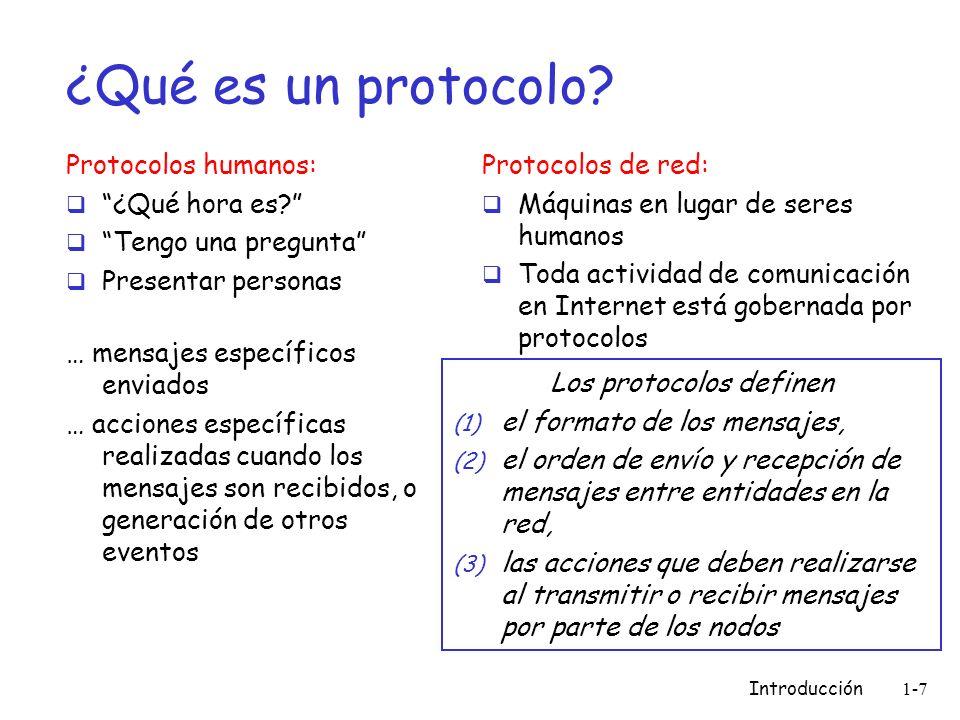 Los protocolos definen