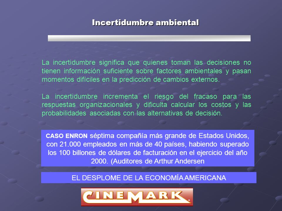 Incertidumbre ambiental