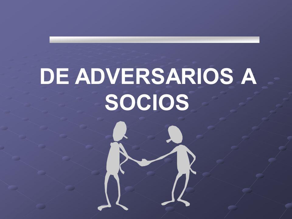 DE ADVERSARIOS A SOCIOS