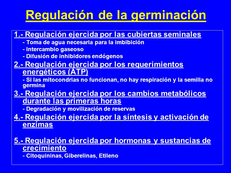 Regulación de la germinación