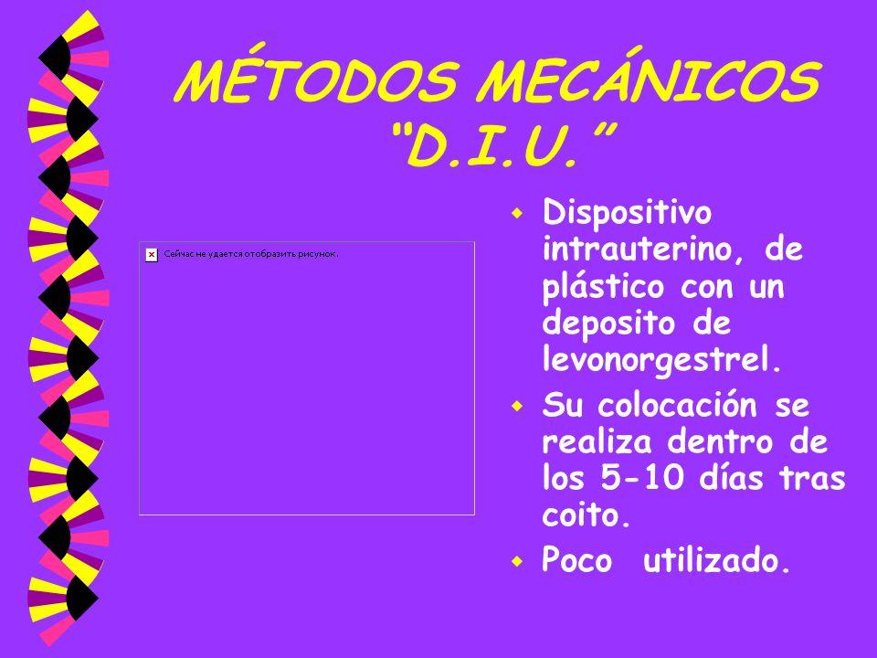 MÉTODOS MECÁNICOS D.I.U.