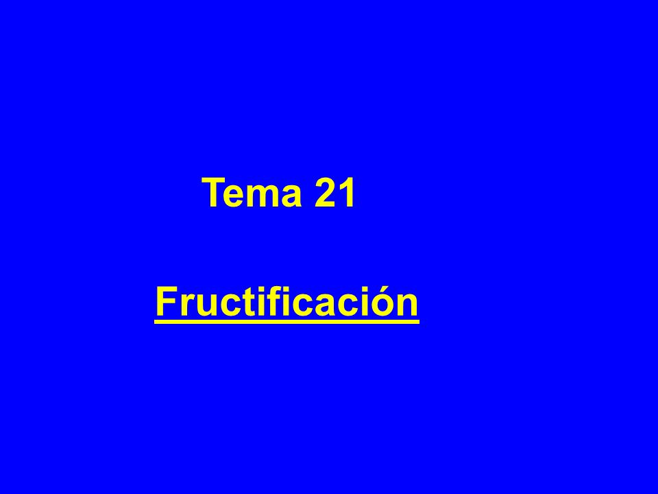 Tema 21 Fructificación