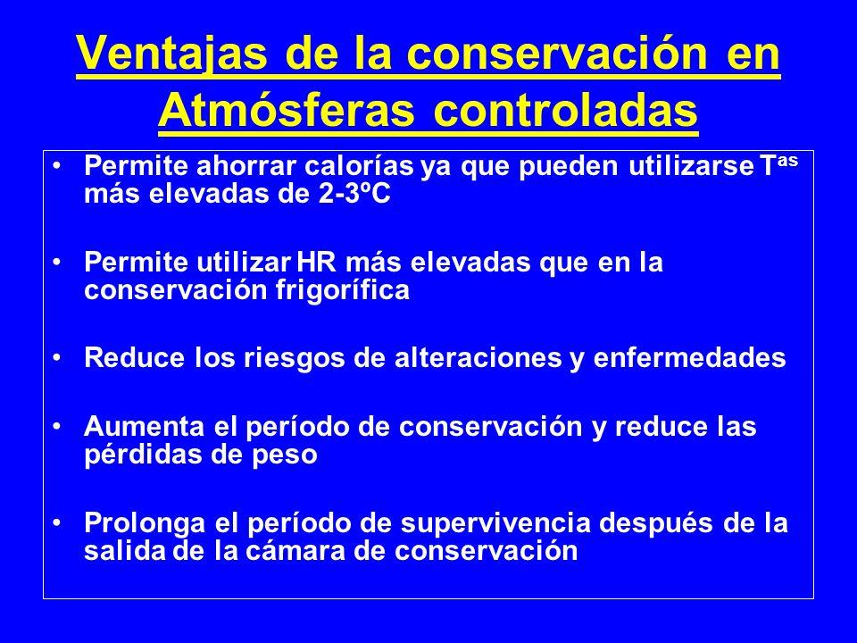 Ventajas de la conservación en Atmósferas controladas