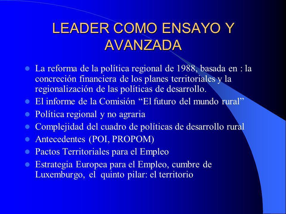 LEADER COMO ENSAYO Y AVANZADA
