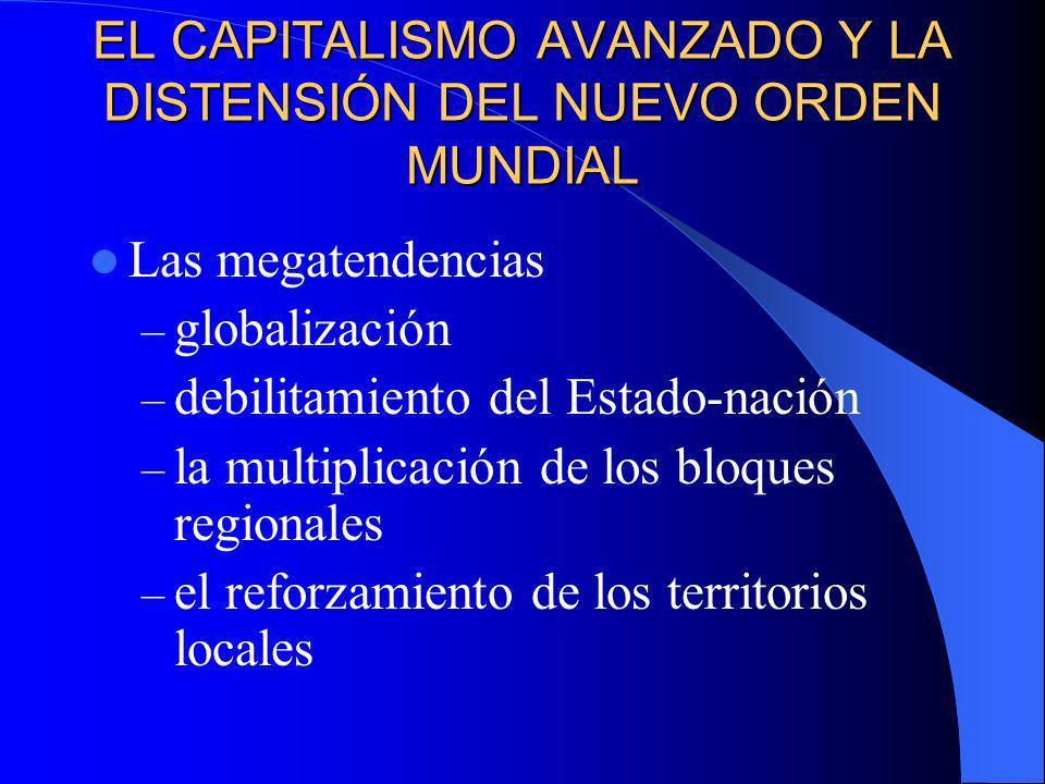 EL CAPITALISMO AVANZADO Y LA DISTENSIÓN DEL NUEVO ORDEN MUNDIAL