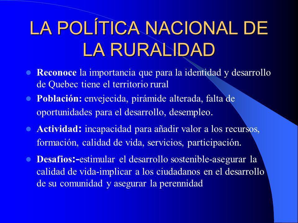 LA POLÍTICA NACIONAL DE LA RURALIDAD