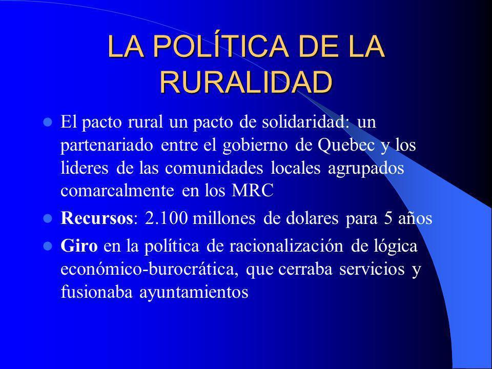 LA POLÍTICA DE LA RURALIDAD