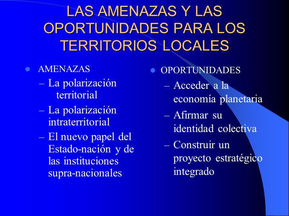 LAS AMENAZAS Y LAS OPORTUNIDADES PARA LOS TERRITORIOS LOCALES